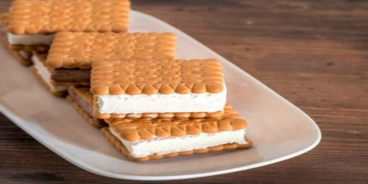 ice cream biscuit