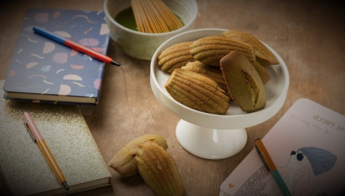 Japanese matcha madeleines, a tasty variation of the classic Madeleine
