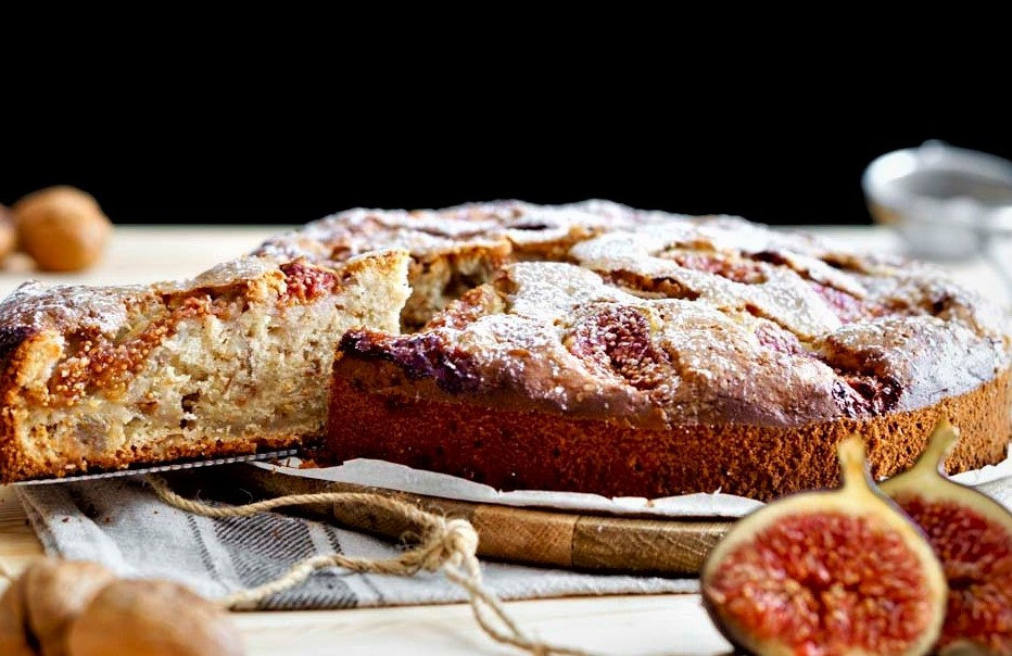 Cake of fig with Walnut