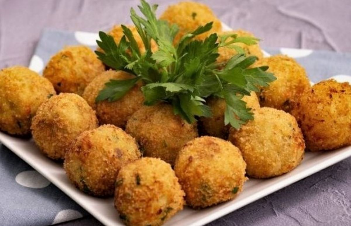 Salmon and potato balls