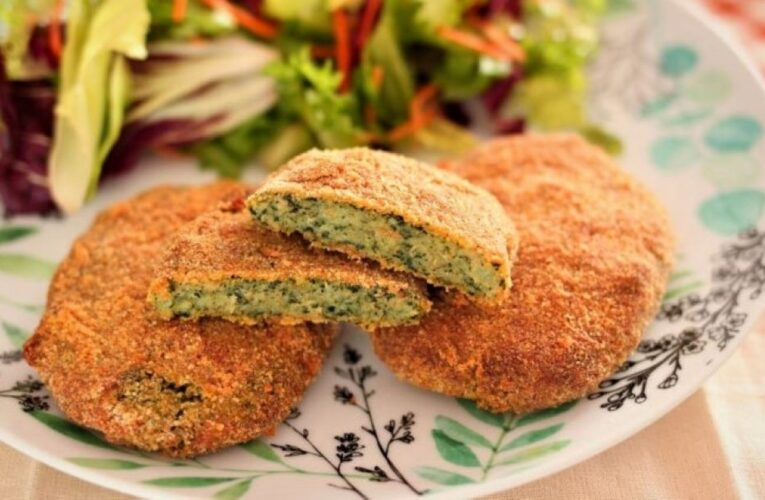 SPINACH CUTLETS WITHOUT MEAT HOMEMADE